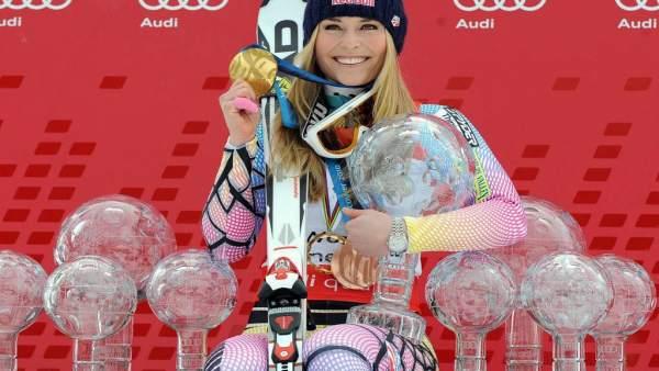 Esquí/Premio.- (Perfil) Lindsey Vonn, la reina del 'circo blanco' que desafió a la velocidad y las lesiones