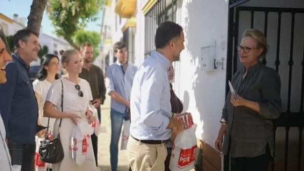 Huelva.- 26M.- El alcalde de Moguer pide el voto para el PSOE avalado por que la gente vive 'con la misma ilusión'