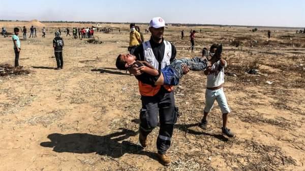 Heridos durante protestas en Gaza