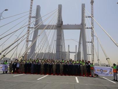 Inauguración del puente de Rawd Al-Faraj en El Cairo