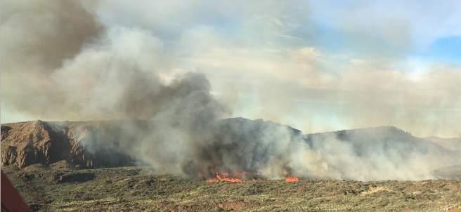Incendio en el Teide