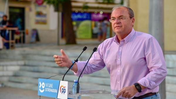 26M.- Monago insiste en un régimen especial fiscal especial para Extremadura y recuerda que la UE lo permite