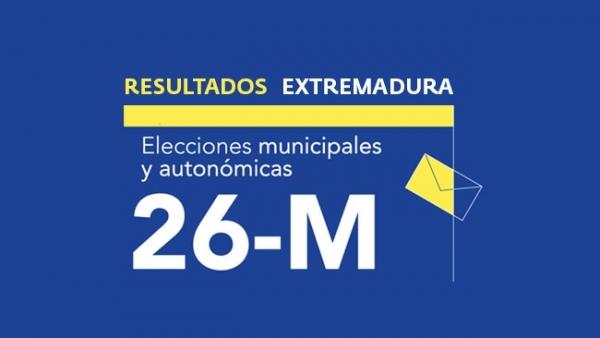 Resultados en Extremadura de las elecciones autonómicas y municipales 2019