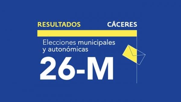 Resultados en Cáceres de las elecciones municipales 2019