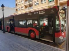 Nuevo vehículo articulado híbrido de la EMT de València