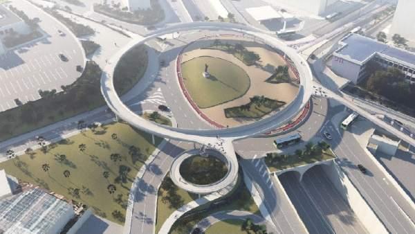 El proyecto de la pasarela peatonal de Padre Anchieta contará con una plaza anexa a la Facultad de Biología