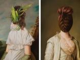 Pintura clásica de Ewa Juszkiewicz es una vuelta de tuerca y de cabeza