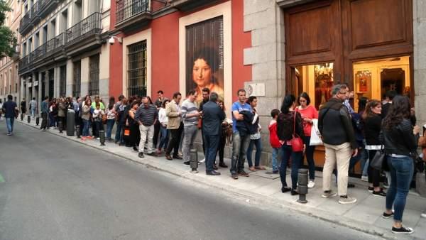 Colas en el Museo del Romanticismo durante el Día de los Museos