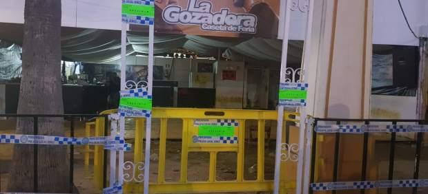 Cádiz.- Clausurada una caseta de la Feria de Jerez por vender alcohol a menores de edad
