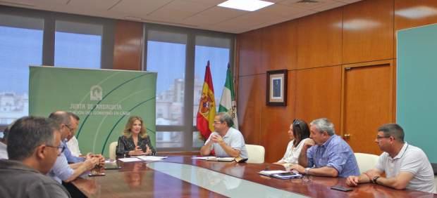 Cádiz.- Mestre traslada al comité de empresa de Louis Berger el apoyo de la Junta para acabar con el conflicto laboral