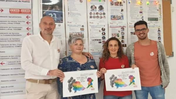 Huelva.- La Federación Andaluza Arco Iris junto a CCOO presentan dos muestras escolares en el día contra Lgtbifobia