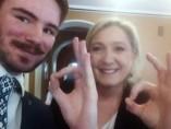 Ruuben Kaalep y Marine Le Pen