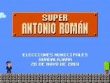 Super Antonio Román, la campaña del alcalde del PP de Guadalajara que imita al videojuego Super Mario Bros.