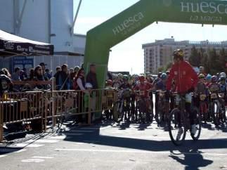 Más de 150 jóvenes participarán en la penúltima prueba de la Liga Escolar de la Bici en Huesca