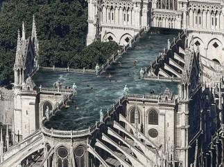Una piscina en el techo de Notre-Dame