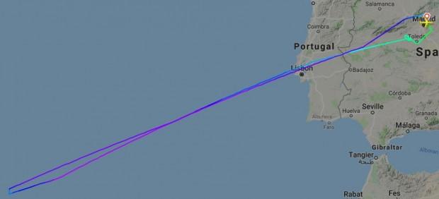 mapa Flightradar