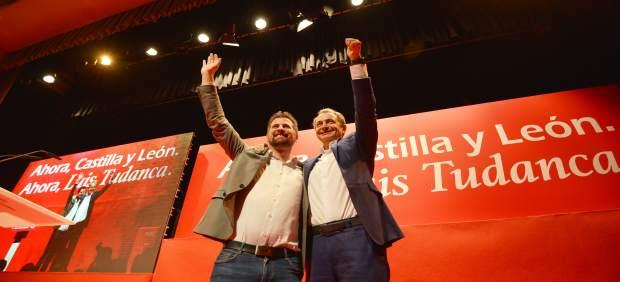 Acto de campaña del PSOE celebrado en el Hotel Tey Sancho en Palencia