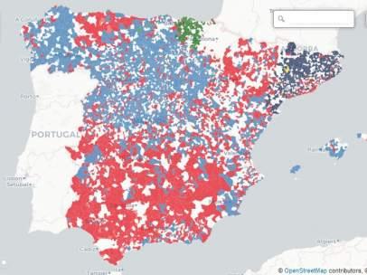 'Feudos' de los partidos en los municipios españoles