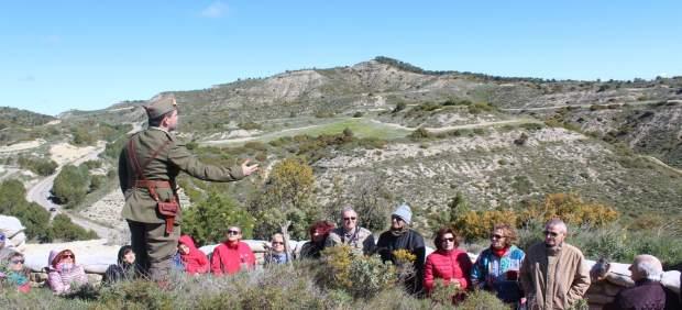 La II Trinchera viviente de la Ruta Orwell se podrá ver este fin de semana en la Sierra de Alcubierre
