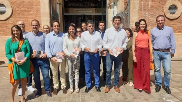 Almería.- 26M.- Marín valora el proyecto 'ilusionante, renovador y con compromiso' de Cs en la capital