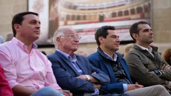 Almería.- 26M.- Moreno muestra su apoyo a Almería porque 'Andalucía tiene que empezar a mirar hacia su parte oriental'