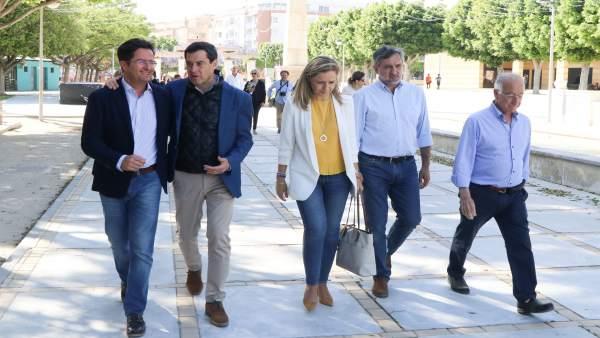 Almería.-26M.- Moreno cree que 'lo mejor para El Ejido está por llegar' por la ventaja del PP en el Ayuntamiento y Junta