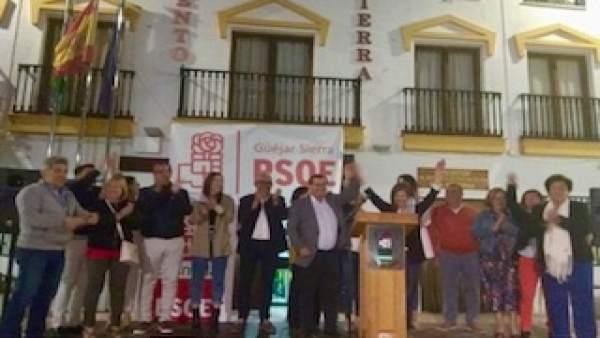 Granada.- 26M.- Entrena pide movilización en Güejar Sierra que ponga fin a '24 años de gobierno de la derecha'