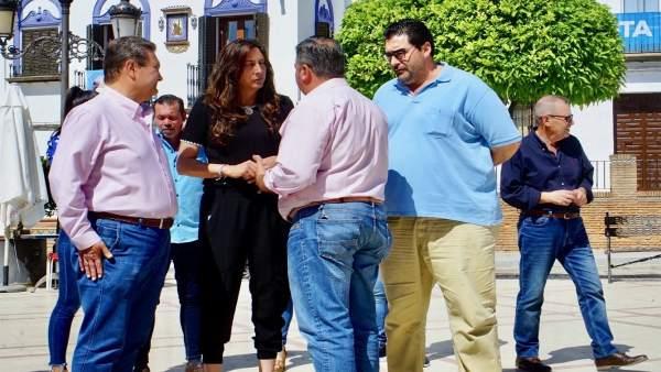 Huelva.- 26M.- Loles López pide el voto para que José Zamorano 'sea el alcalde de todos los vecinos de Chucena'