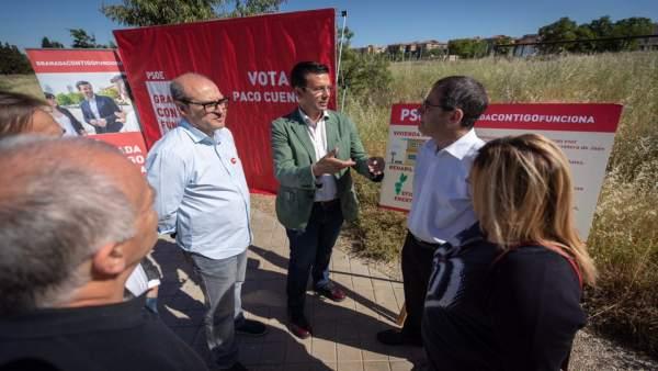 Granada.- 26M.- Cuenca (PSOE) promete 6.000 nuevas viviendas y repetir el modelo de rehabilitación de Santa Adela