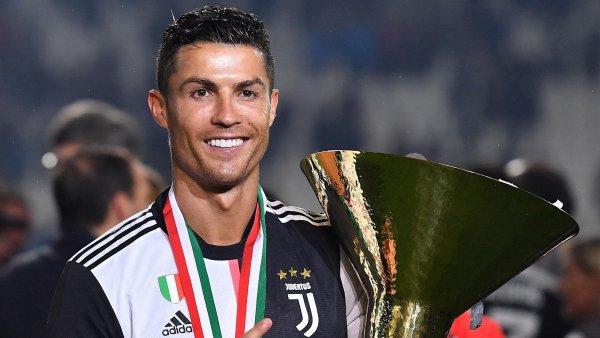 Ronaldo celebra el 'Scudetto'