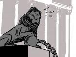 Los presos del <em>procés</em> recogen sus actas, viñeta de Malagón