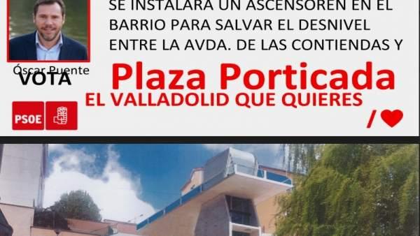 26M.-PSOE Buzonea Propuestas De Obras De Ascensores En Girón, Parquesol Y Pajarillos Y Un Aparcamiento En Delicias