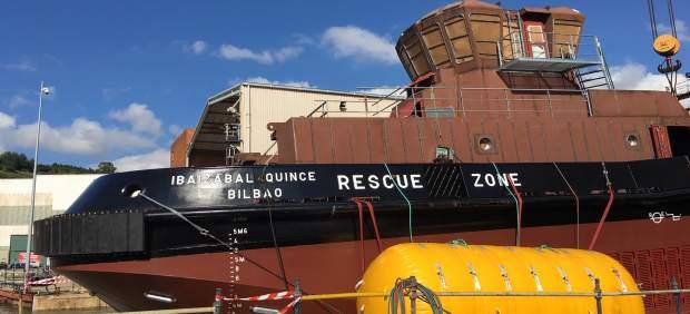Astilleros Murueta bota el primer remolcador a puerto de propulsión dual construido en España