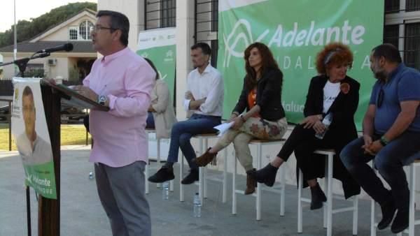 Huelva.- 26M.- Maíllo expresa su confianza en que la candidatura de Adelante Aljaraque saque 'excelentes resultados'
