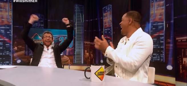 Pablo Motos y Will Smith, en 'El hormiguero'.