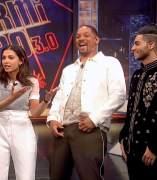 Naomi Scott, Mena Massoud y Will Smith, en 'El hormiguero'.