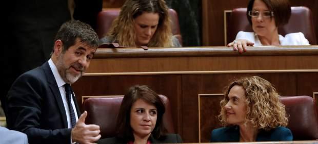 Meritxell Batet y Jordi Sánchez