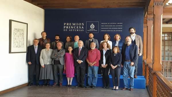 Miembros del jurado del Premio Princesa de Asturias de las Letras 2019