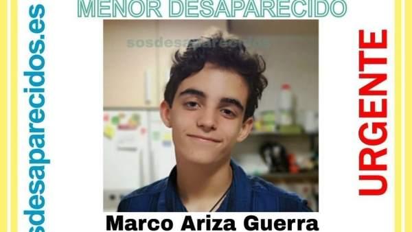 Menor de 15 años desaparecido