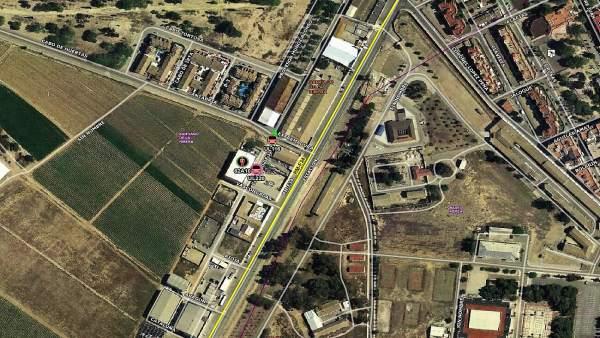 Sucesos.- Dos heridos en una explosión en el interior de una nave industrial de Santiago de la Ribera (San Javier)