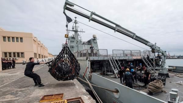 Interceptado un pesquero cargado con 1.500 kilos de cocaína en aguas internacionales cerca de Canarias