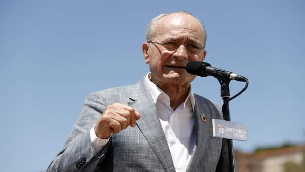 Pablo Casado clausura un mitin de campaña en Málaga