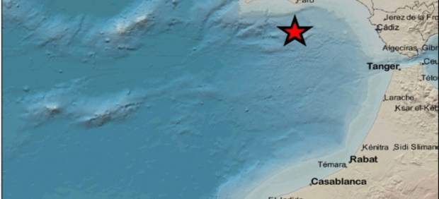 Cádiz.-Sucesos.- Registrado un terremoto de magnitud 2,9 en el Golfo de Cádiz
