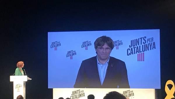 26M.- Puigdemont: 'En El Parlamento Europeo No Podrá Suspendernos Ningún Juez Prevaricador'