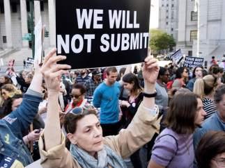 Manifestación en favor del derecho al aborto en EE UU