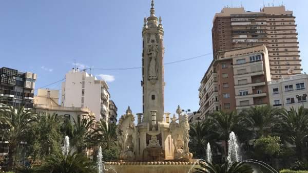 Fuente de Los Luceros de Alicante