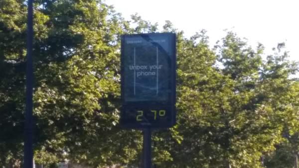 Termómetro 27ºC