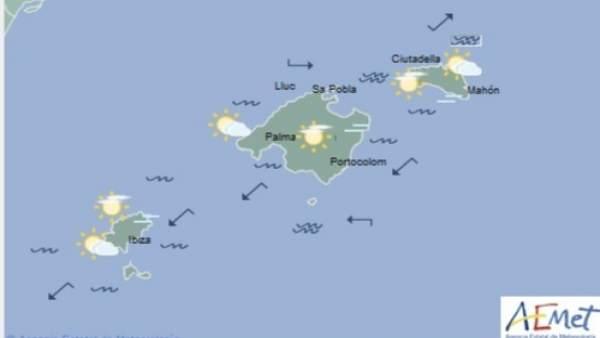 Predicción meteorológica para este miércoles 22 de mayo en Baleares: temperaturas diurnas con pocos cambios