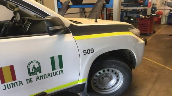 Huelva.-Sucesos.-Denunciados 13 talleres ilegales de mecánica en la provincia tras vigilancias en polígonos industriales