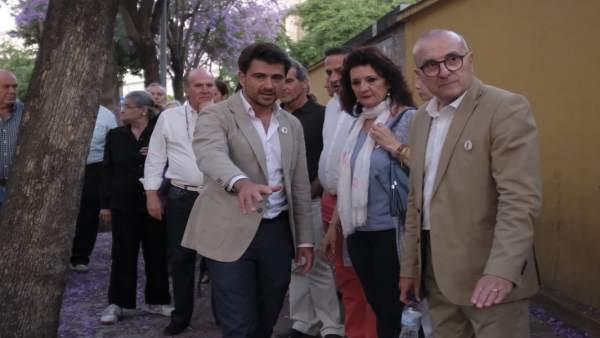 Sevilla.-26M.-Beltrán Pérez se compromete a 'devolver la seguridad y la limpieza' a las calles de la Macarena